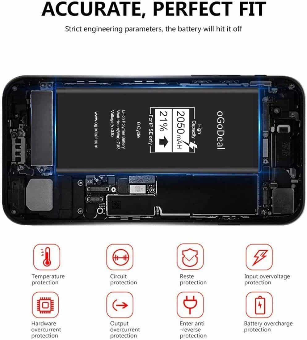 iPhone SE replacement battery