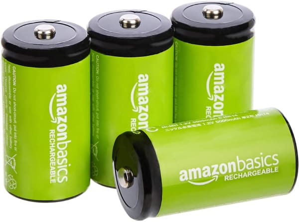AmazonBasics C Cell Rechargeable Batteries