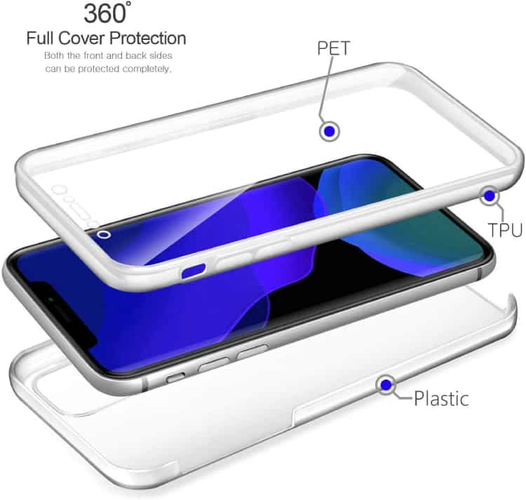 DN-Alive Front and Back Case For iPhone 11 Pro Max 6.5''