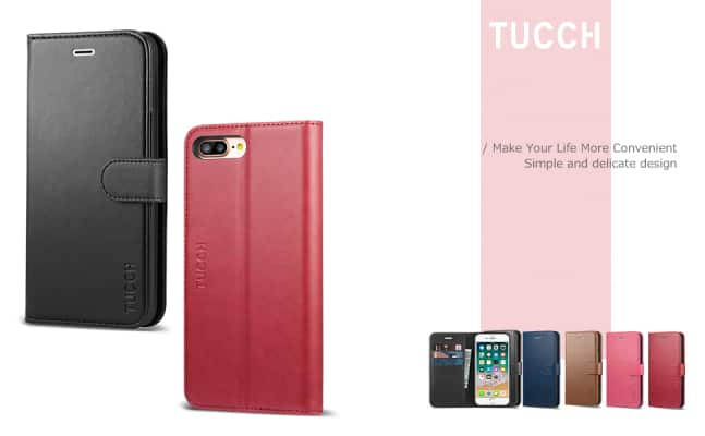 TUCCH iPhone 7 Plus Wallet Case/Cover
