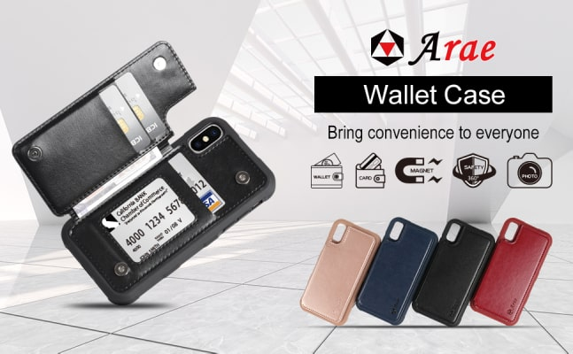 Arae iPhone XS Wallet case/cover