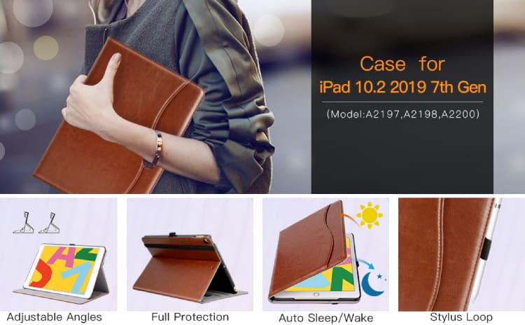 Ztotop for iPad 7th generation Wallet Case