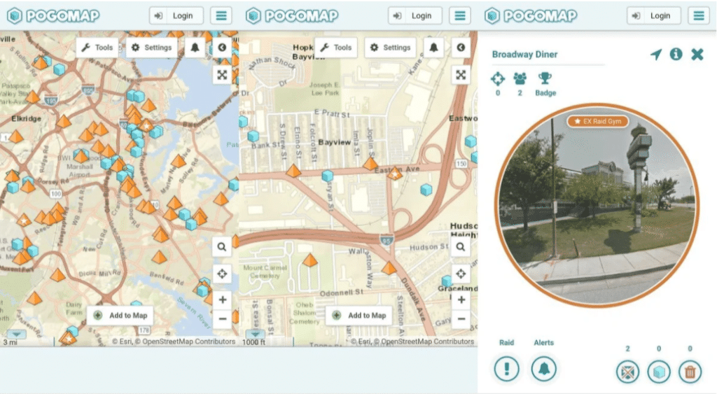 pokemon go maps and trackers