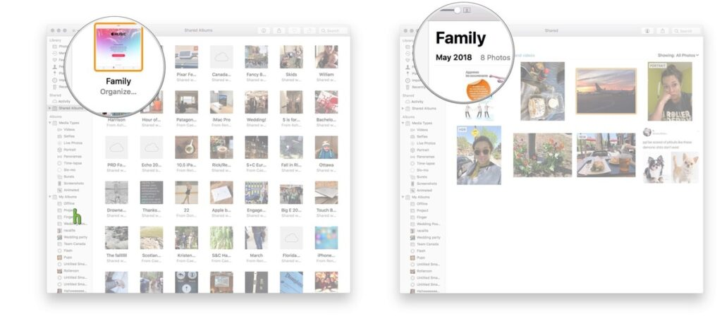 view the album on your mac