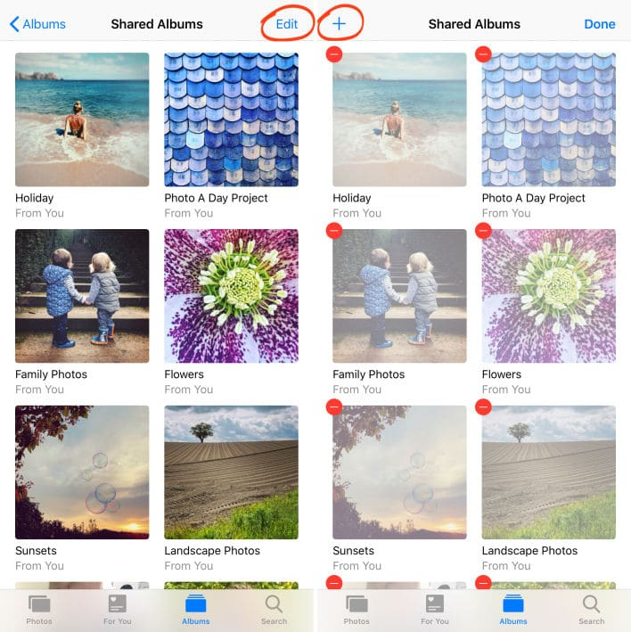 Create A Shared Album on iCloud Family Sharing