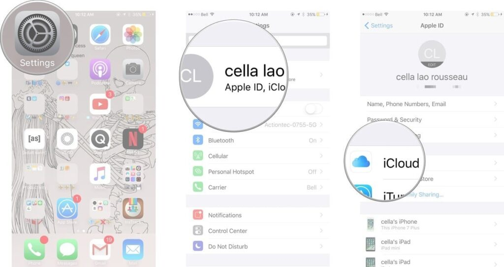 Sync images to iCloud in iPhone and iPod