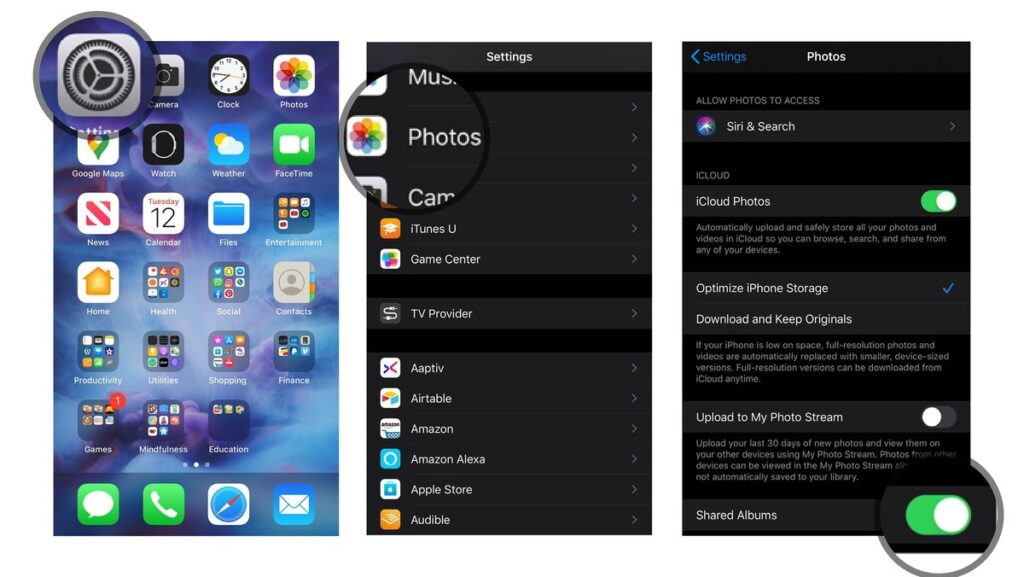 share photos with iCloud Photo Library on iPhone and iPad