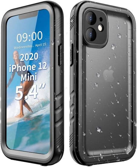 Cozycase Compatible with iPhone 12 Mini Waterproof Case