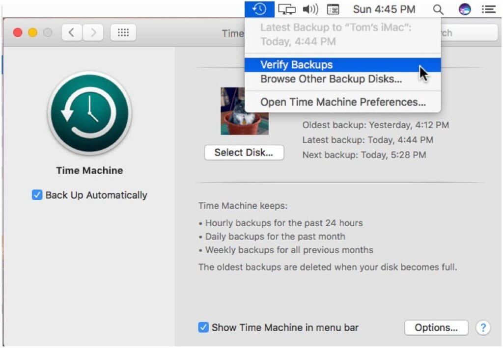 Time Machine is backing up properly on your Mac