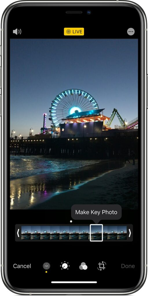 steps to change the key photo