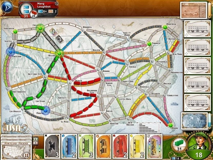 iPad game: Ticket to Ride