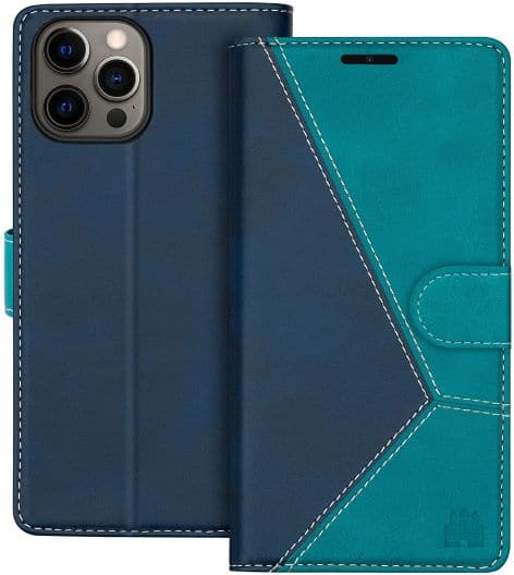 Caislean Compatible with iPhone 12 Pro Wallet Cover
