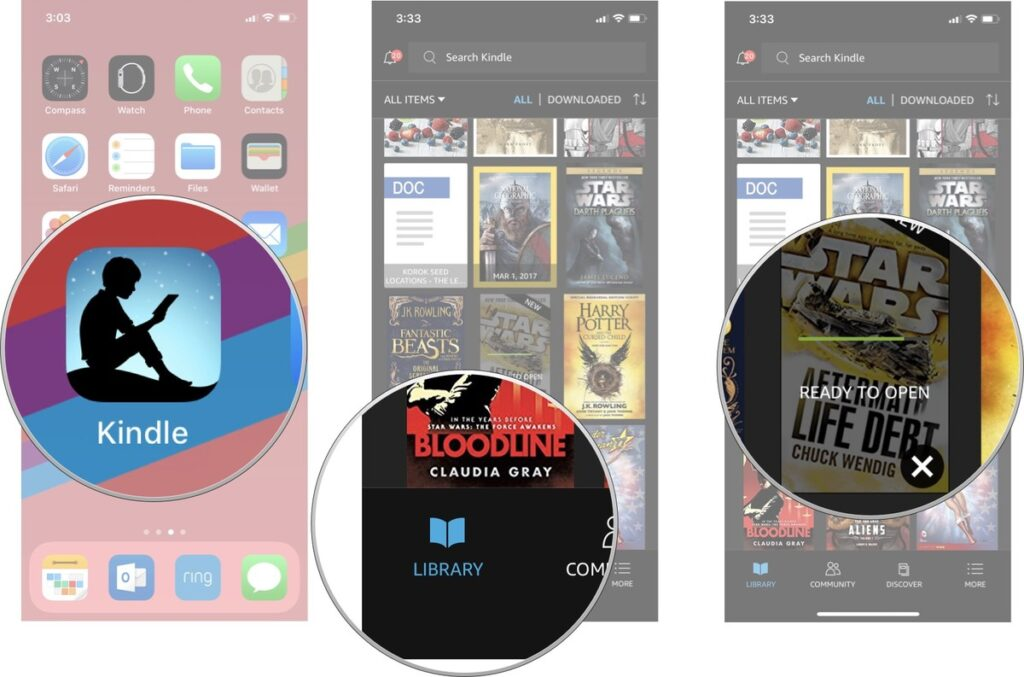 Download your Kindle Library books in the Kindle app