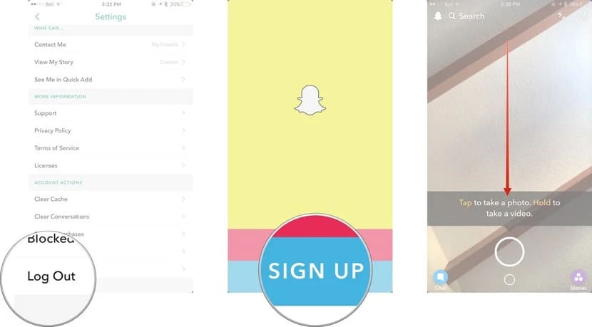 sign up on Snapchat