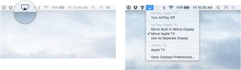 switch Air Play Mirroring modes on your Mac