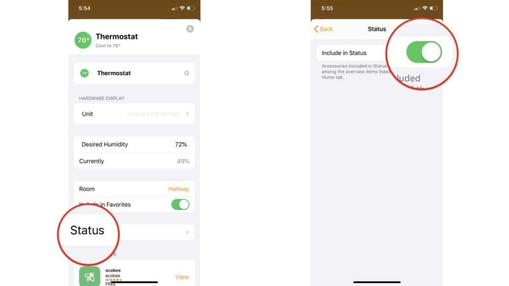 monitor and adjust the status of your HomeKit Home
