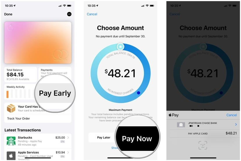 How to manage a payment on your Apple Card right now