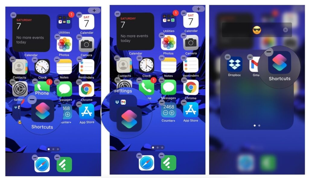 Add apps to folders on your Home screen