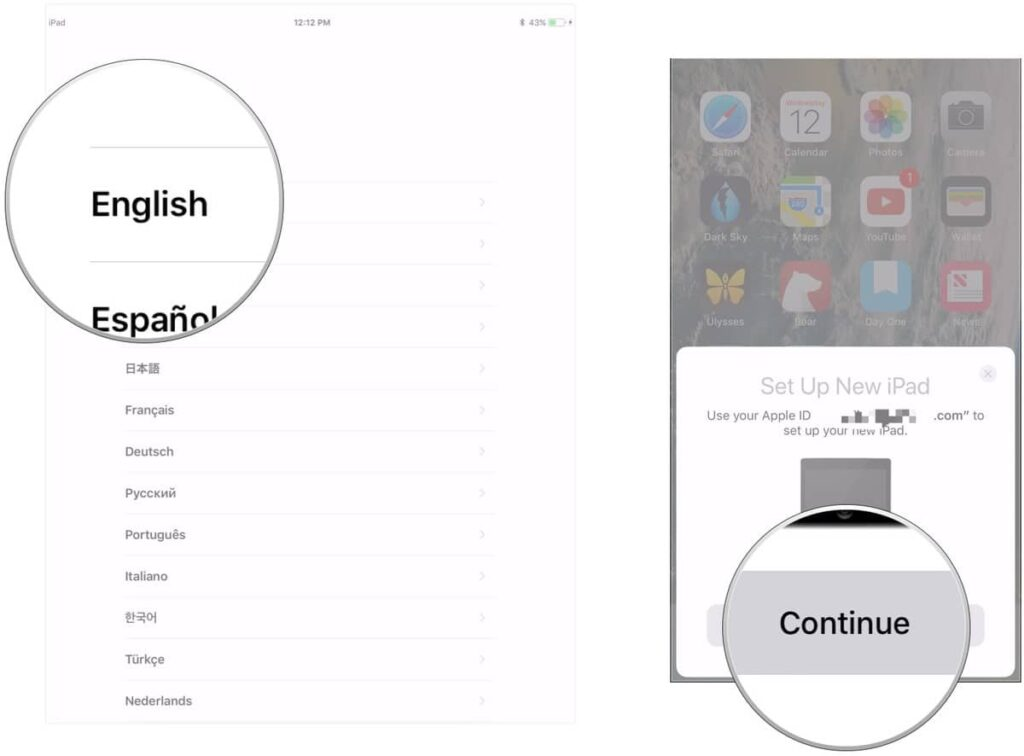 Transfer data to new iPhone- set up Touch ID