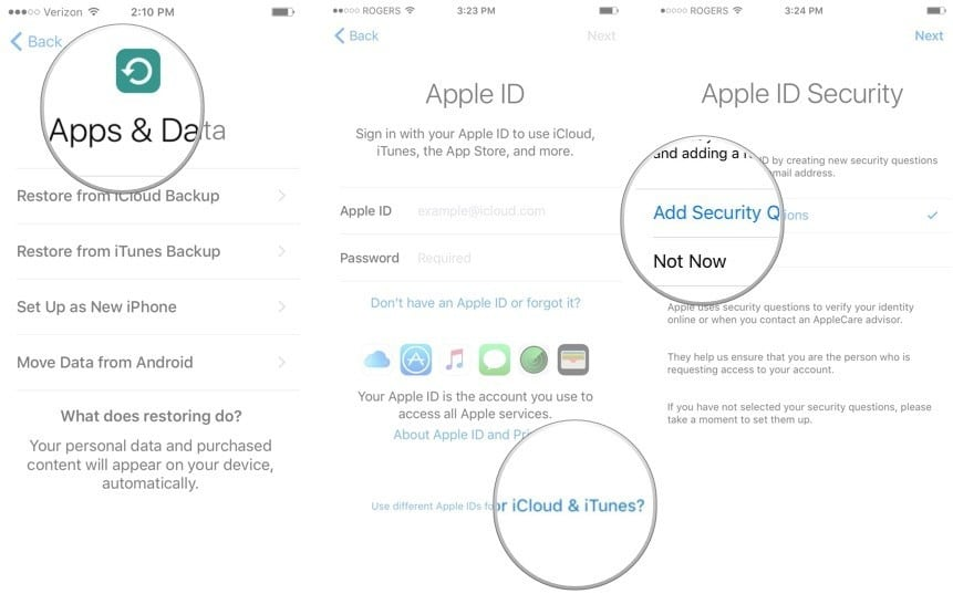 set up your Touch ID supported iPad or iPhone as new