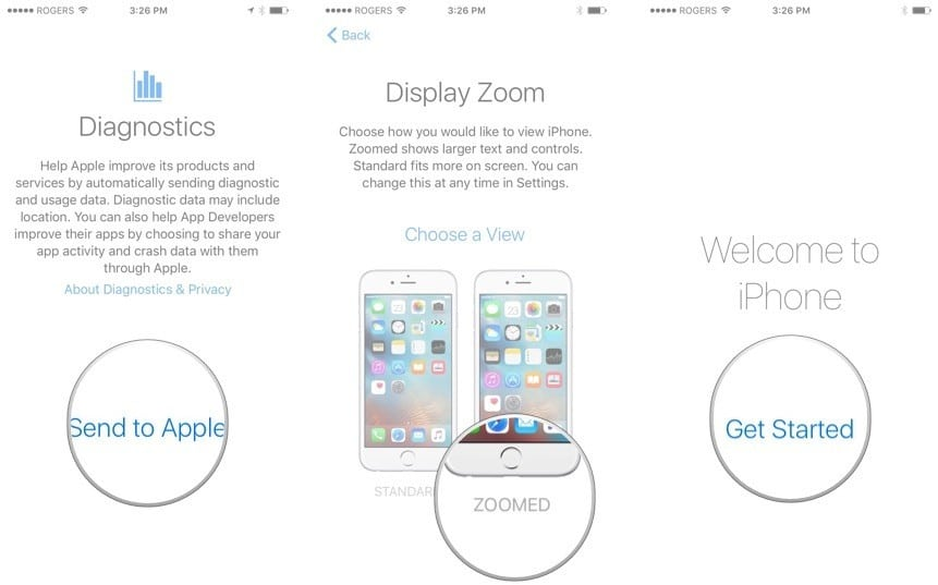set up your iPad or iPhone as new