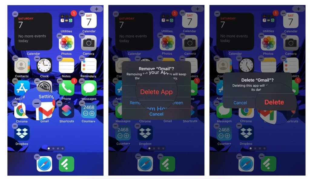 delete apps from your Home screen- rearrange your apps on iPhone and iPad