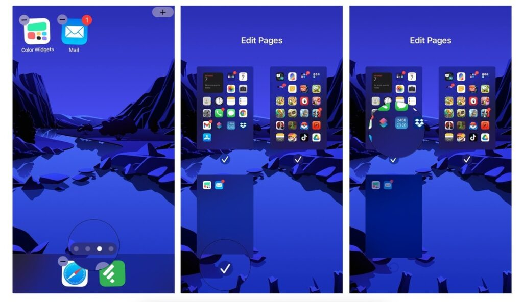 hide Pages from Home Screen