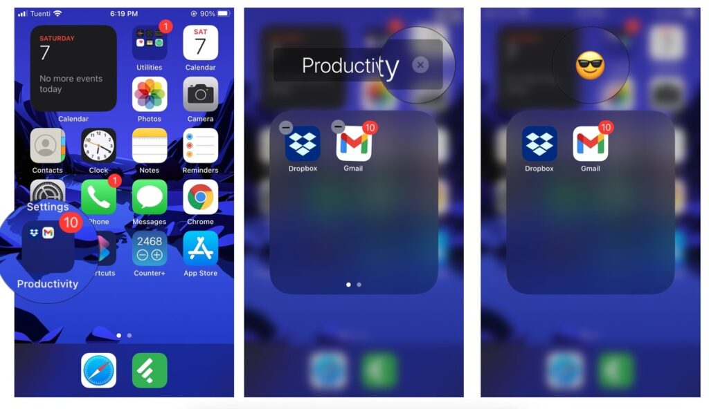 rename folders on your Home screen