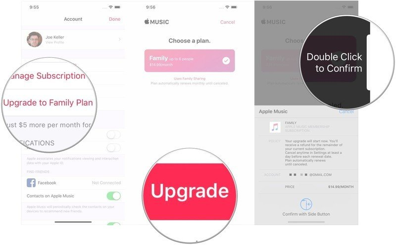 move from an individual Apple Music plan to a Family plan- manage your Apple Music subscription