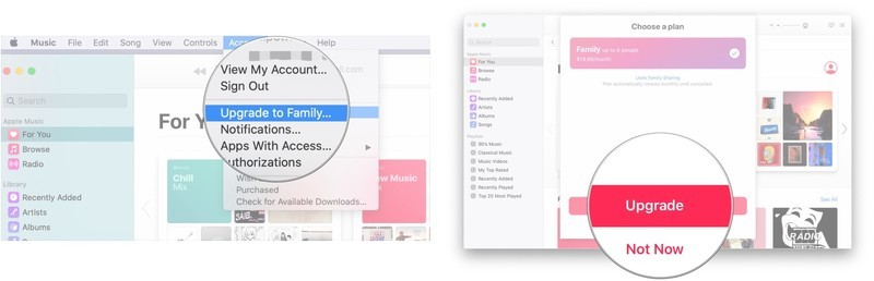 Switch to a Family Plan for Apple Music on your Mac