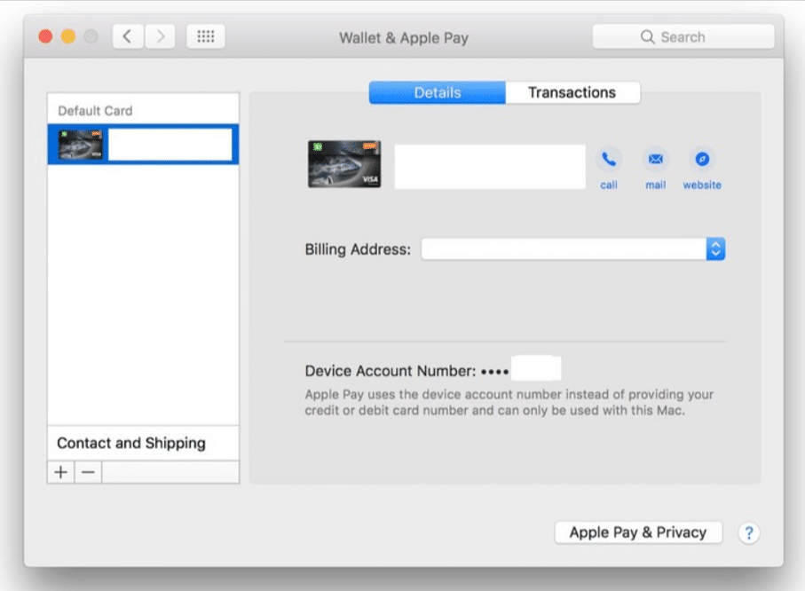 Manage Apple Pay on the Mac