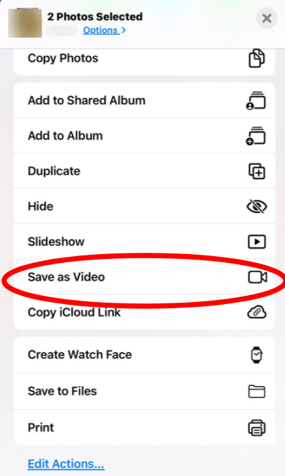 make video from live photos