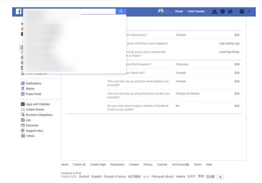 Setting Up Privacy Settings in facebook-personalizing profile on Facebook