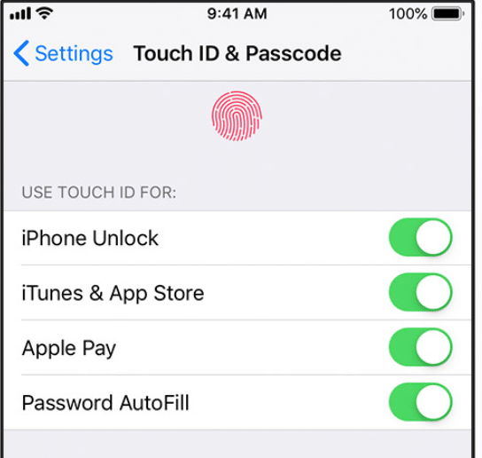 lock apps on iPhone touch id and passcode