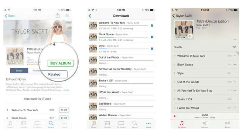 add songs to music app iPhone
