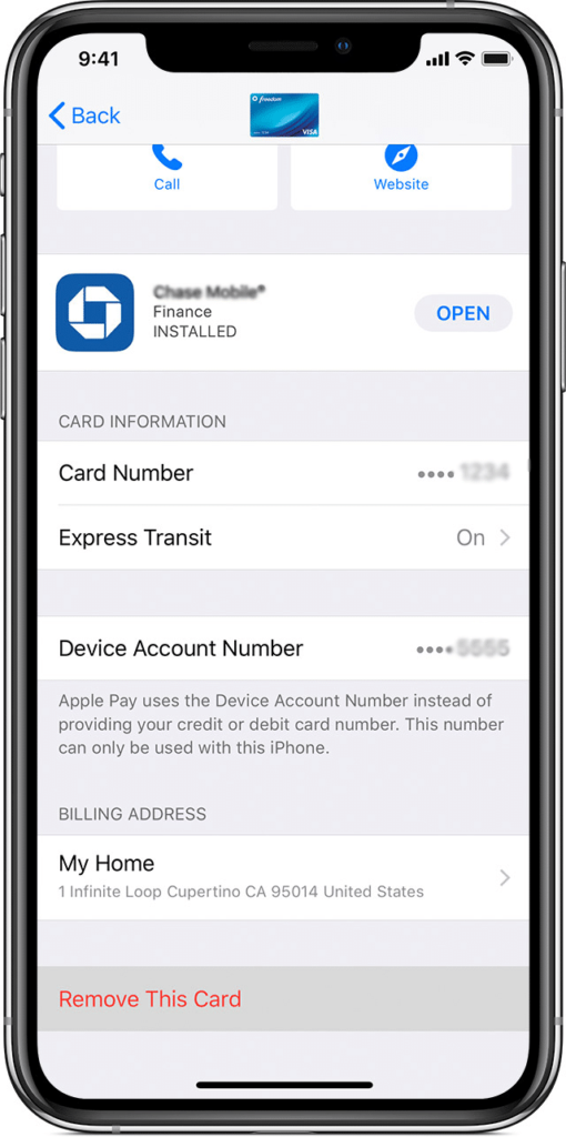 Return a purchase in-store with Apple Pay