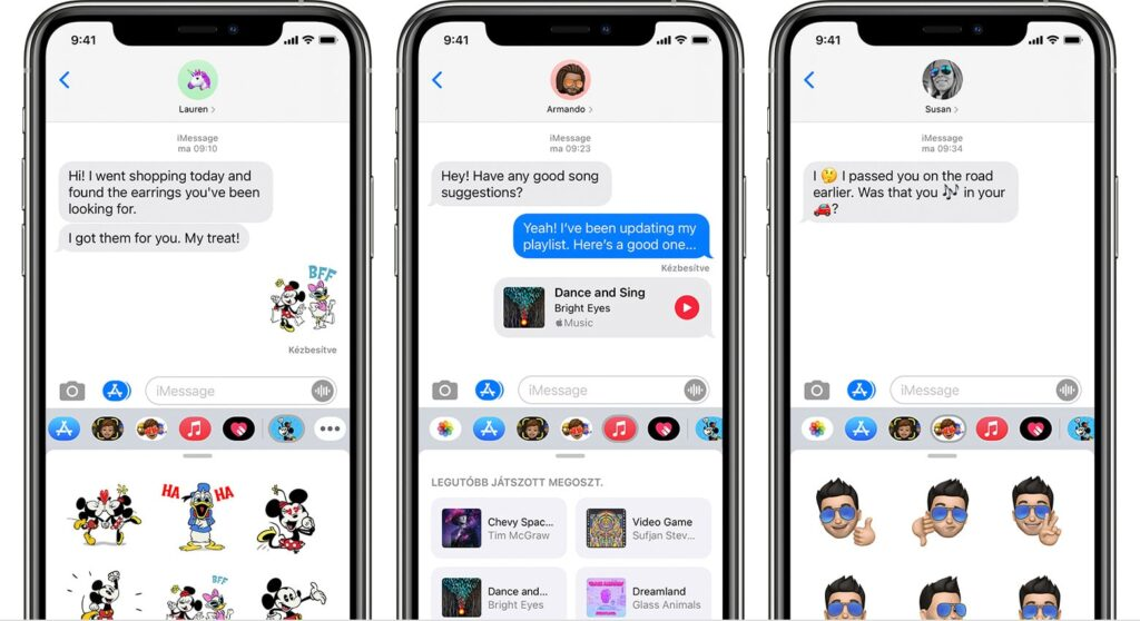 rapidly send and reply with iMessage