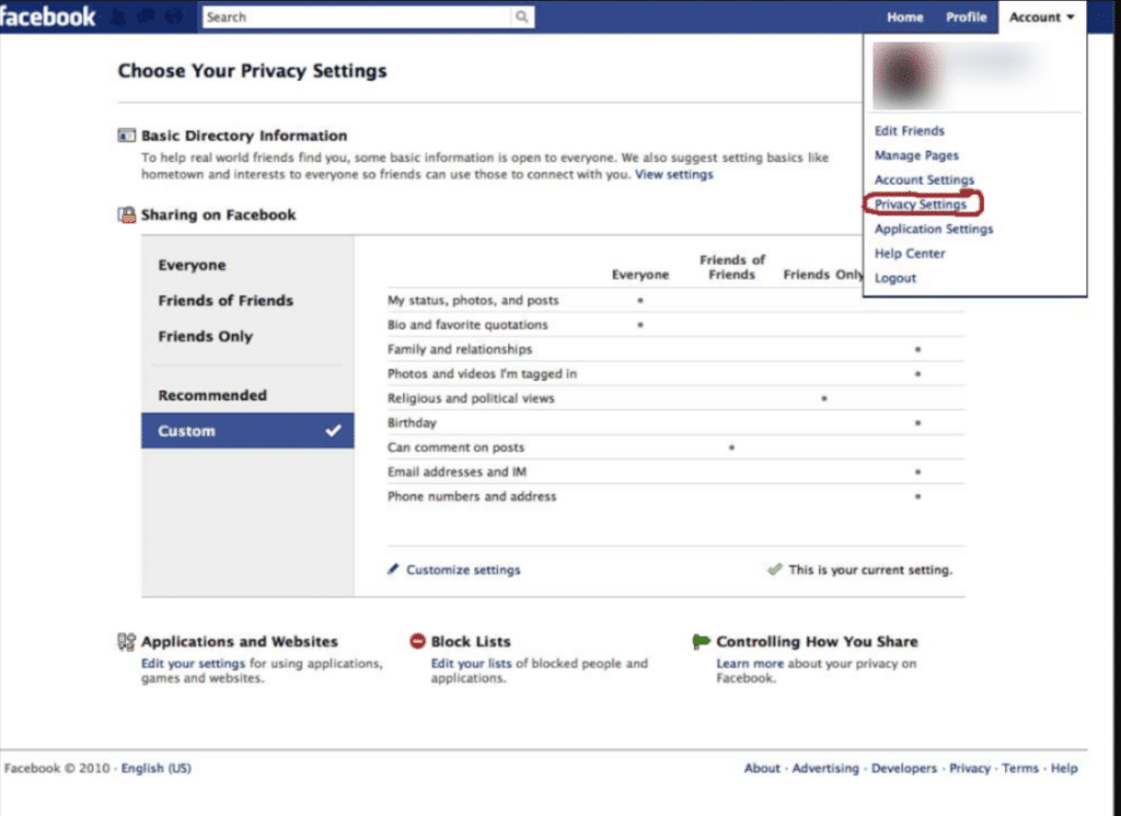 how to use Facebook- Setting Up Privacy Settings in facebook