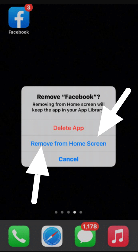 move apps and  remove them  from Home screen