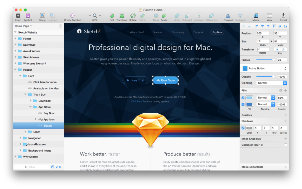 Sketch- Touch Bar apps for MacBook Pro