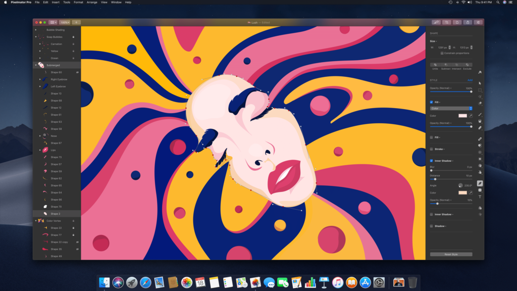 Pixelmator Pro- Touch Bar apps for MacBook Pro