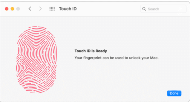 Use touch ID on Mac App store