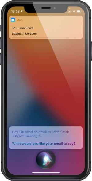 Siri to send and receive emails on Mail app