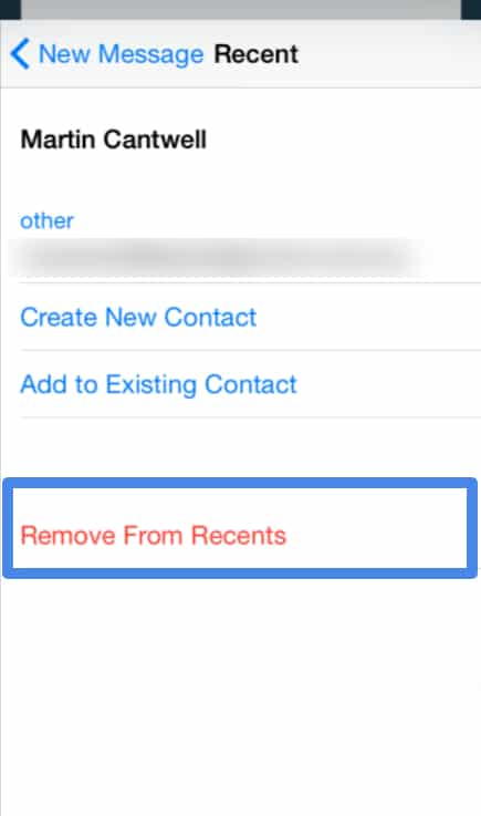 remove suggested contacts in Mail