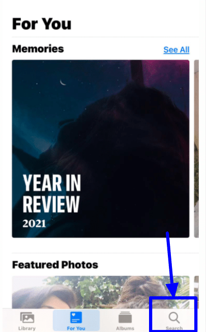 Searching Memories in the Photos app