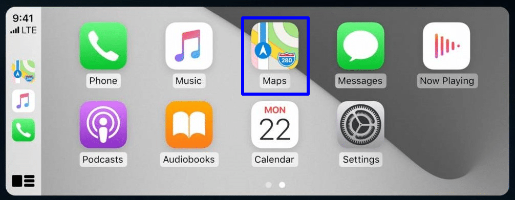 Search for specific locations-use Apple Maps with CarPlay