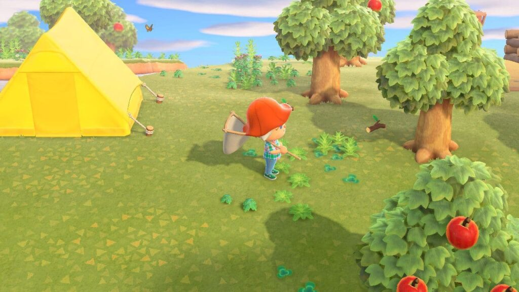 Weed your island in Animal Crossing New Horizons