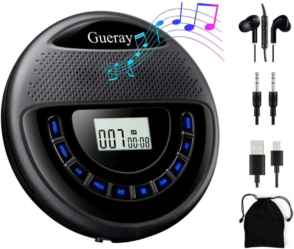 Gueray CD Player with Speaker